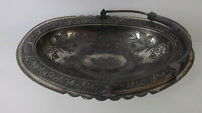 Antique Silver Plated Quadruple Plate Ornate Basket by Wilcox Silver Plate Co.