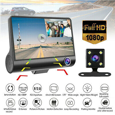 1080P 4 Dual Lens HD Car DVR Rearview Video Dash Cam Recorder Camera G-sensor US
