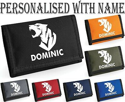 Personalised Mickey Mouse Ears Boys Kids Money WALLET Add Your Name Gift