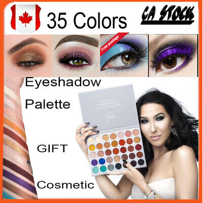 35 Colors Matte Shimmer Eyeshadow Palette Makeup Eye Shadow Cosmetic Gift CA