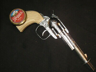 beer tap handle old western six shooter rainier