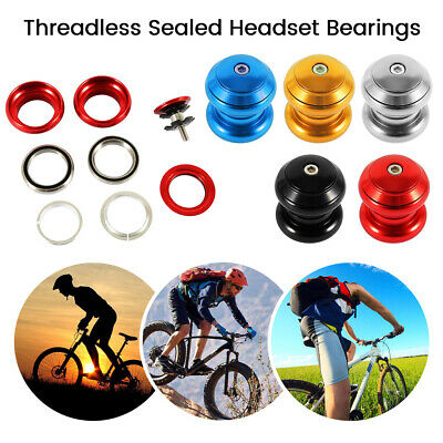 2 bicycle ball bearing caged 1-1//8 Threadless headsets cups Threaded MTB Road