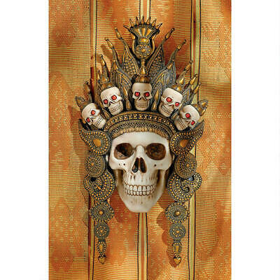 Tribal Crown of Skulls Ancient Spirits Afterlife Indonesian Wall Mask NEW