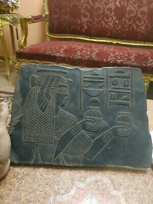Antique  Egyptian Pharaonic Stela Queen Cleopatra