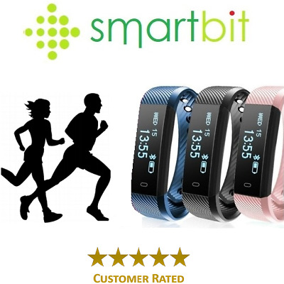 Smart Bit Sports Fitness Tracker Heart Rate Activity Step Fit Bitspeed Watch