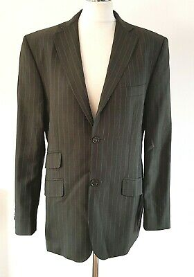 "TED BAKER Endurance Mens Suit Jacket Blazer Wool Grey Pinstripe 38"" Regular 38R"