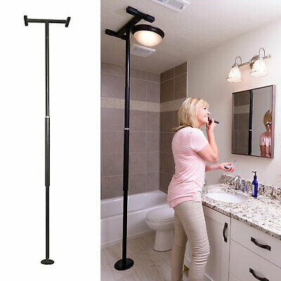 Stander Security Pole, Tension Mounted Elderly Transfer Assist Grab Bar, Black