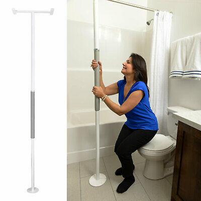 Stander Security Pole, Tension Mounted Elderly Transfer Assist Grab Bar, White