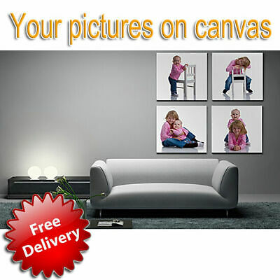 Your Photo Picture Personalised Canvas Print Wall Art Box Framed Ready To Hang