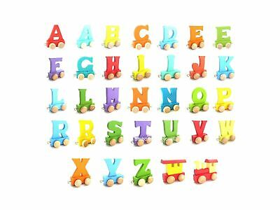 Personalized Train 26 English Recognition Wooden Name Colorful Alphabet For baby