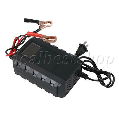 Fully Automatic Smart Charging Battery Charger for All 12V Car Black