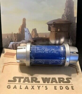 Star Wars: Galaxys Edge BLUE Kyber Holocron Jedi Saber Crystal Disney Sealed NEW