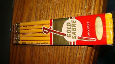 Vintage Wallace Gold Sabre No. 2 Pencils New Old Stock in Package