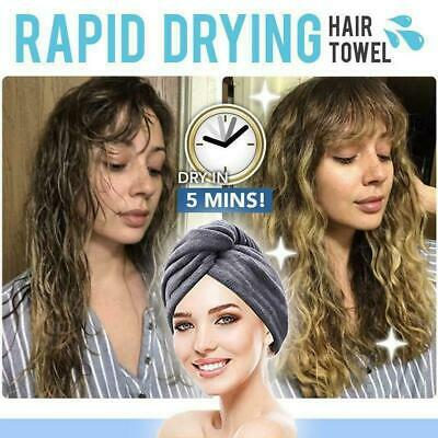 Rapid Drying Hair Towel Microfiber Towel Quick Dry Magic Drying Shower Hat Cap