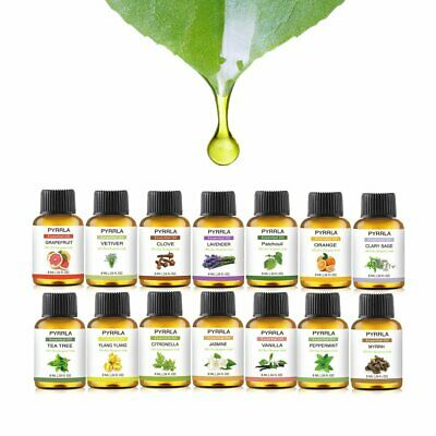 14X Essential Oil Set Aromatherapy Gift Kit Pack 100% Pure Oils for Aroma Burner