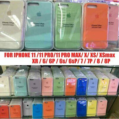 Apple iPhone Silicone Case for iPhone 11 Pro Max XS XR X 7 8 6 Plus Slim Cover
