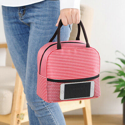 Portable Lunch Box Insulated Thermal Cooler Carry Tote Picnic Case Storage Bag