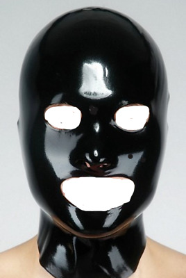 Bondage Fetish Rubber Mask 1140 Open Eyes & Mouth Latex Wear Gimp Catsuit Slave