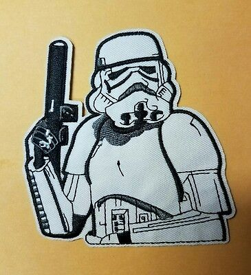 Star Wars Stormtrooper with blaster Patch 4 inches tall
