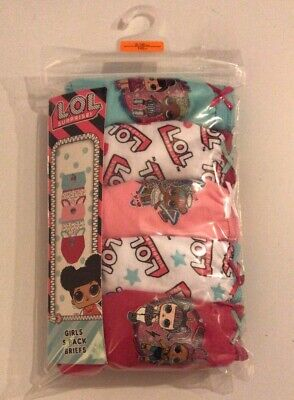 5 Pairs Girls LOL L.O.L. Surprise Doll Knickers Briefs Underwear Age 1 - 10 Year