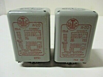UTC A-20 Line To Line Transformer Pair See Specs In Photos