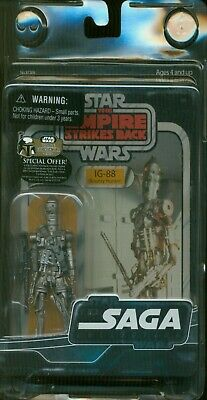 Star Wars SAGA COLLECTION THE EMPIRE STRIKES BACK IG-88 NM UNOPENED CASE