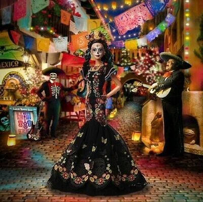 Trusted seller! BARBIE CATRINA DAY OF THE DEATH DEAD DOLL MEXICO DIA DE MUERTOS