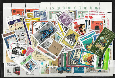 EAST GERMANY DDR 1981 COMPLETE YEAR STAMP COLLECTION Mint Never Hinged