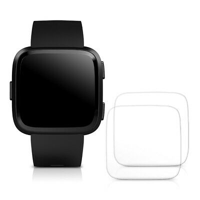 2x TEMPERED GLASS DISPLAY PROTECTOR FOR Fitbit Versa Versa Lite CRYSTAL CLEAR