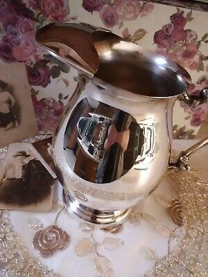 Vintage Sheridan silver on copper water pitcher with ice lip age unknown