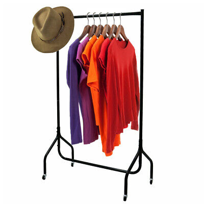 Heavy Duty Metal Clothes Rail Garment Storage Shelf Display Hanging Stand Rack