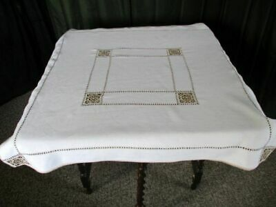 Vintage Lefkara Tablecloth-Hand Embroidered-Linen