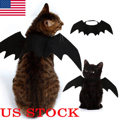 Pet Dog Cats Halloween Bat Wings Cat Funny Cosplay Clothing Festival Gifts Dress