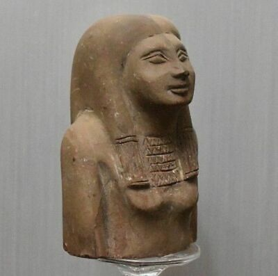 ANCIENT EGYPT ANTIQUE Egyptian stone great half statue
