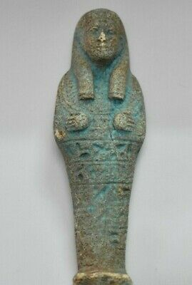 ANCIENT EGYPT ANTIQUE Egyptian faience ushabti e
