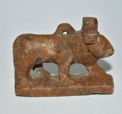 ANCIENT EGYPT ANTIQUE Egyptian STONE cow Hathor amulet