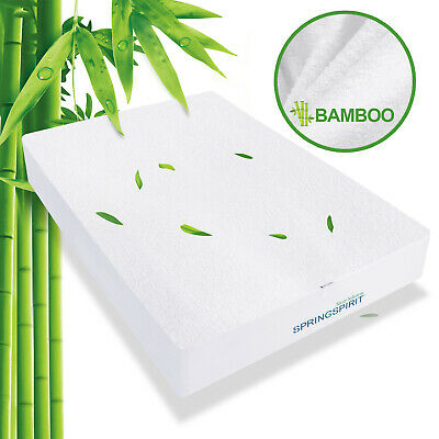 Mattress Protector Waterproof Bamboo Bed Topper Cover All Sizes Breathable
