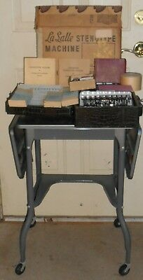 Vintage 1949 LaSalle Stenotype Lesson Set - Supplies Course Material Maso Table