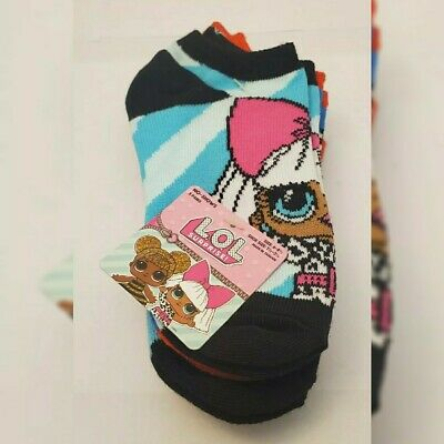 5 Pairs Lol Surprise Socks Girls Size 6-81/2