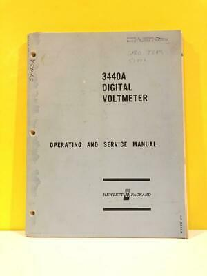 HP Model 3440A Digital Voltmeter Operating and Service Manual