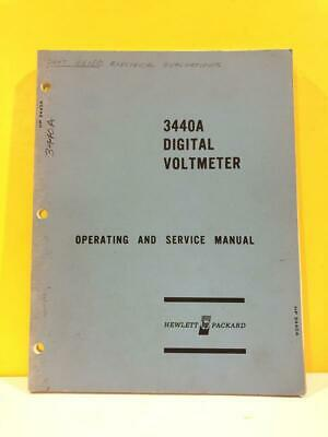 HP 03440-90003 Model 3440A Digital Voltmeter Operating and Service Manual
