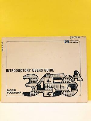 HP 3456A Digital Voltmeter Introductory Users Guide