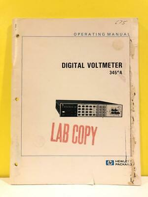 HP 03456-90005 Model 3456A Digital Voltmeter Operating Manual