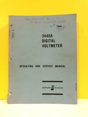 HP 03440-90004 Model 3440A Digital Voltmeter Operating and Service Manual