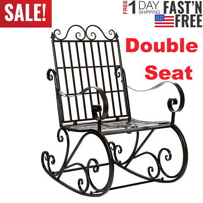 Superb Double Rocking Chair Outdoor Patio Furniture Bench Rocker Creativecarmelina Interior Chair Design Creativecarmelinacom