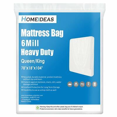 6 Mil Super Thick Mattress Bags for Moving and Storage Heavy Duty
