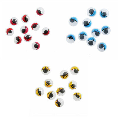 Trimits Toy Eyes Stick On Googly Wobbly Glue-On Eye Lashes 7mm or 10mm