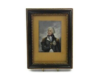 Antique 19th century George Baxter colour print Lord Nelson