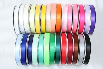 Double Sided Satin Ribbon 45 METRE in 6mm 10mm 15mm 25mm widths BUY 2 GET 1 FREE