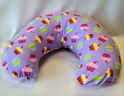 New PURPLE CUPCAKE PRINT Breastfeeding Nursing Support Pillow Made in Canada